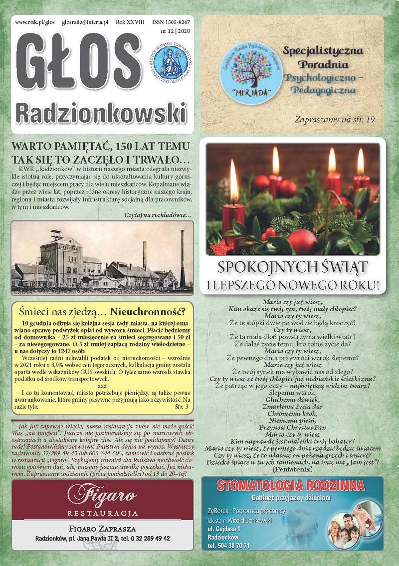 Read more about the article Głos Radzionkowski nr 12/2020