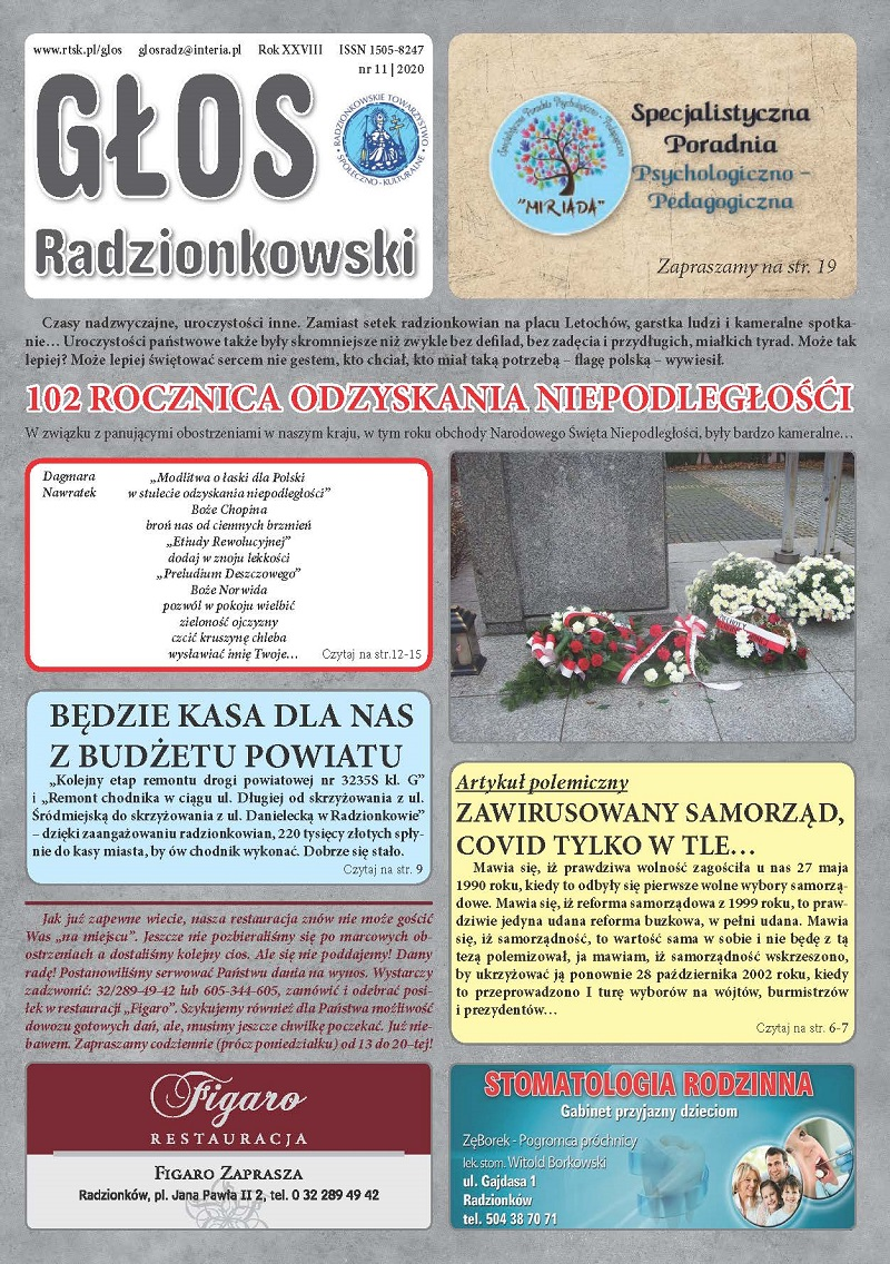 Read more about the article Głos Radzionkowski nr 11/2020
