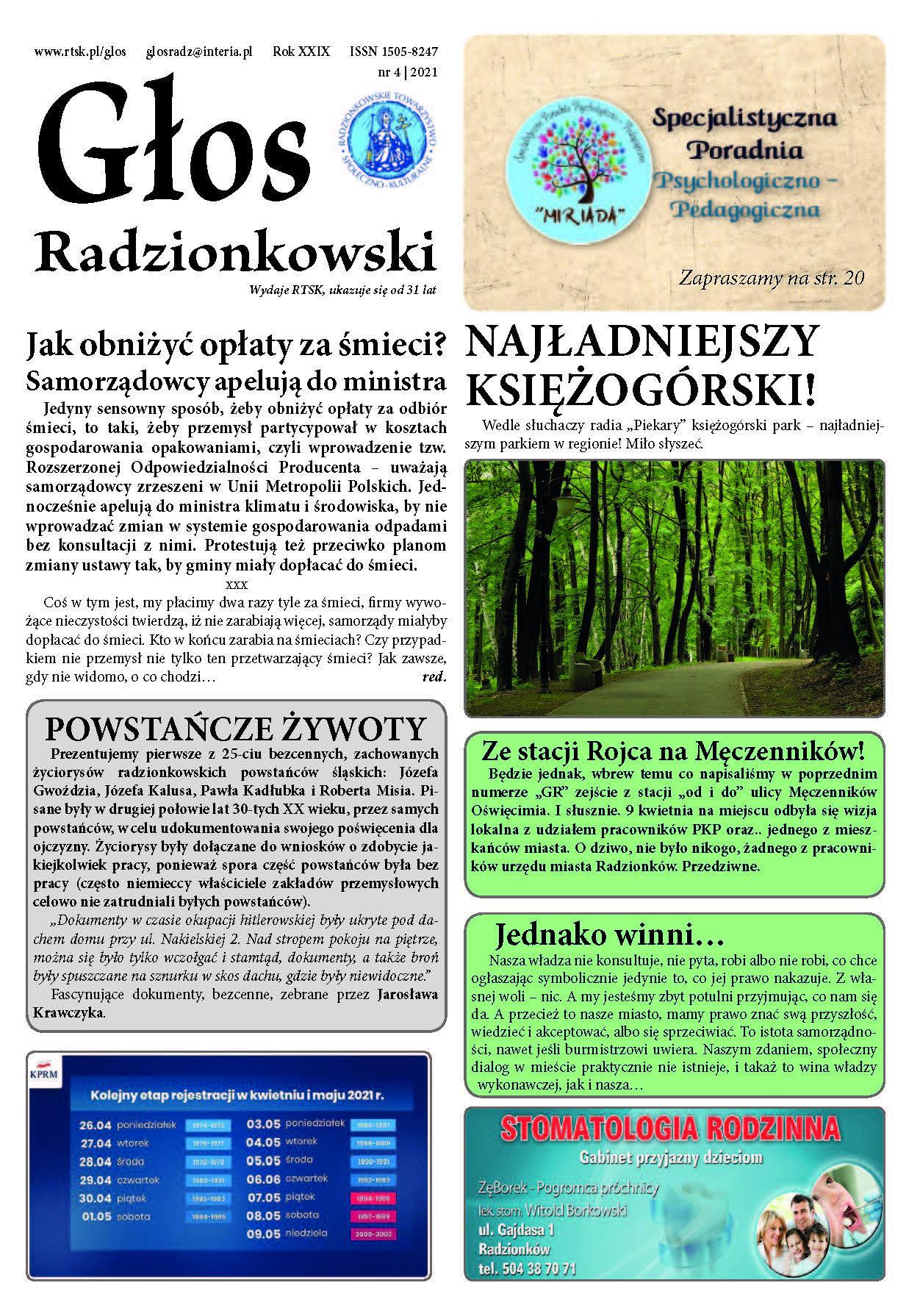 Read more about the article Głos Radzionkowski nr 4/2021