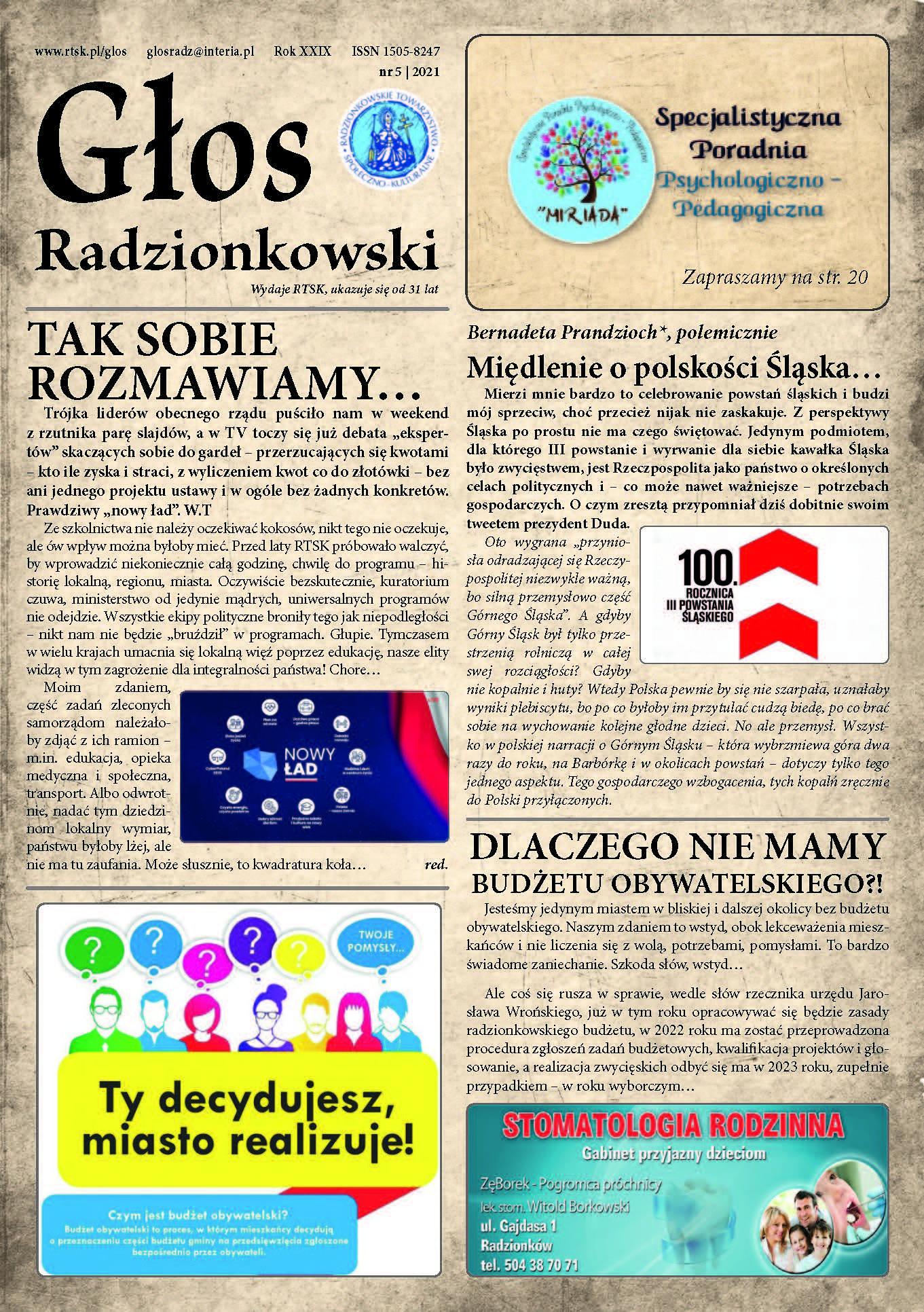 Read more about the article Głos Radzionkowski nr 5/2021