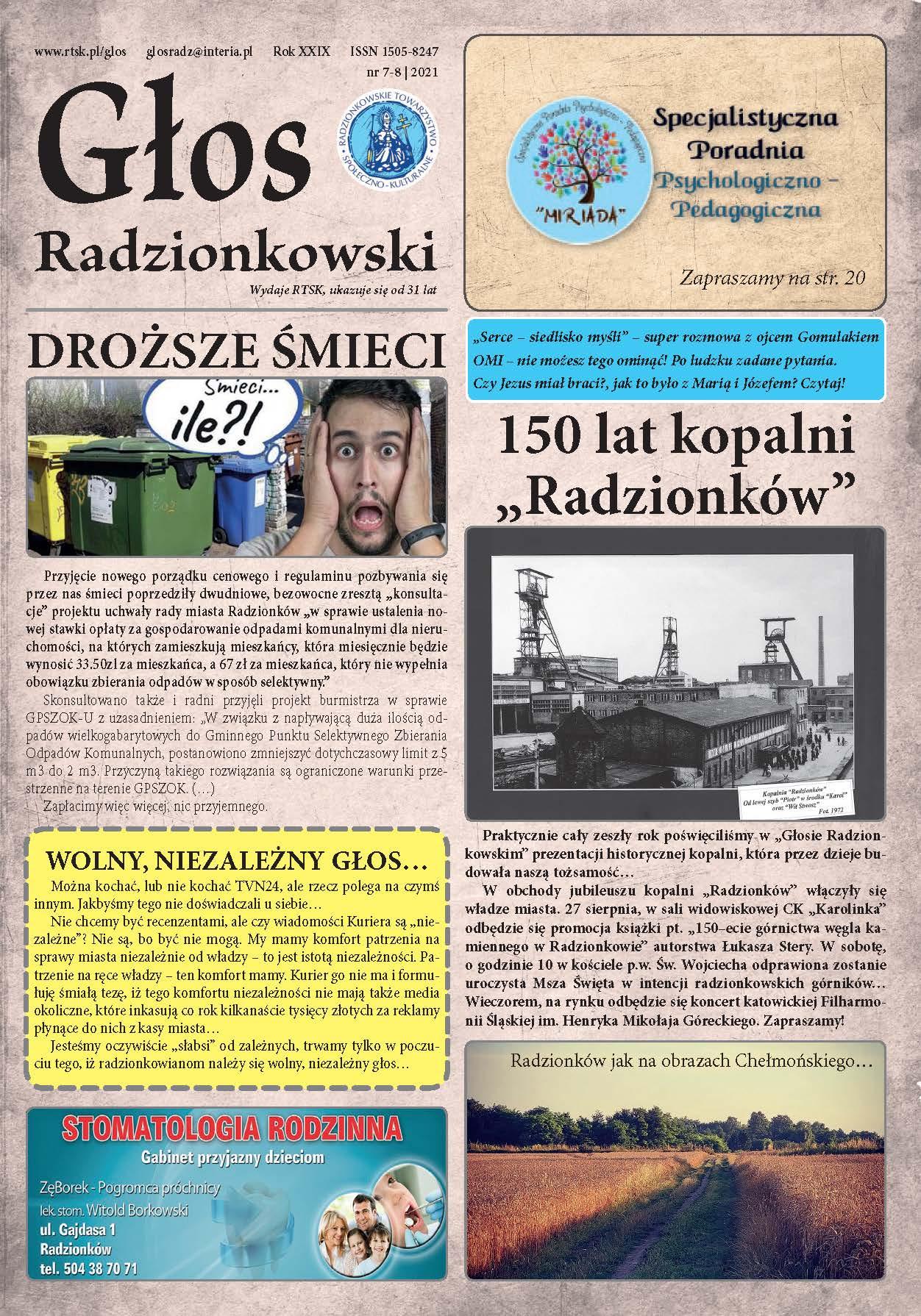 Read more about the article Głos Radzionkowski nr 7-8/2021